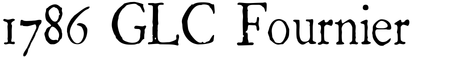 Click to view  1786 GLC Fournier font, character set and sample text
