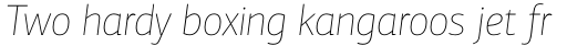 PF Centro Sans Pro ExtraThin Italic sample
