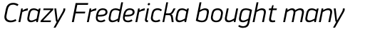 PF DIN Display Pro Light Italic sample