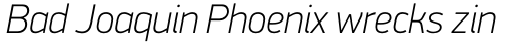 PF DIN Display Pro Thin Italic sample