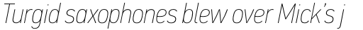 PF DIN Text Cond Pro ExtraThin Italic sample