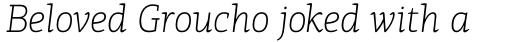 PF Centro Slab Pro Thin Italic sample