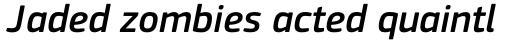 PF Square Sans Pro Medium Italic sample