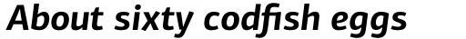 PF Centro Sans Pro Bold Italic sample
