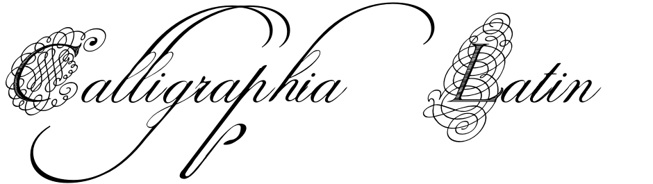 Click to view  Calligraphia Latina Mixed font, character set and sample text