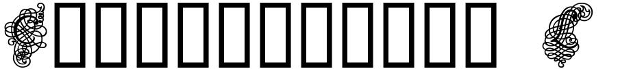 Click to view  Calligraphia Latina Dense font, character set and sample text