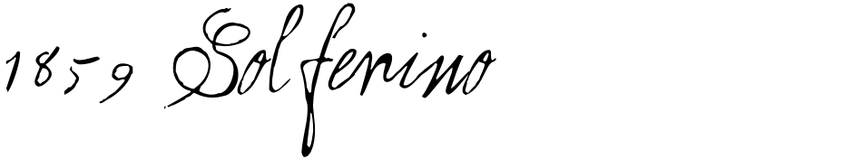 Click to view  1859 Solferino font, character set and sample text