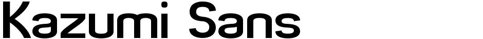 Click to view  Kazumi Sans font, character set and sample text