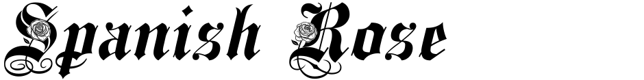 Click to view  Spanish Rose font, character set and sample text