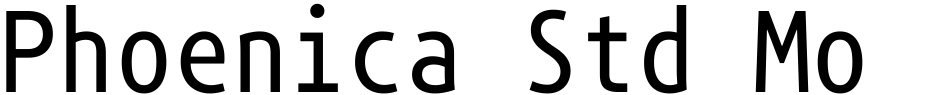 Click to view  Phoenica Std Mono font, character set and sample text