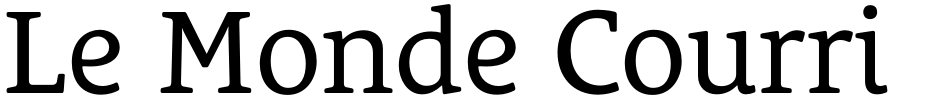 Click to view  Le Monde Courrier Std font, character set and sample text