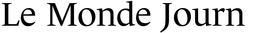 Click to view  Le Monde Journal Std font, character set and sample text