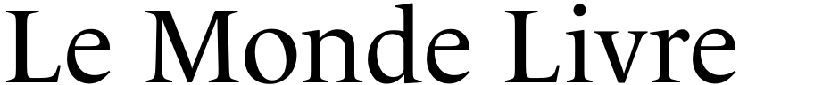 Click to view  Le Monde Livre Std font, character set and sample text