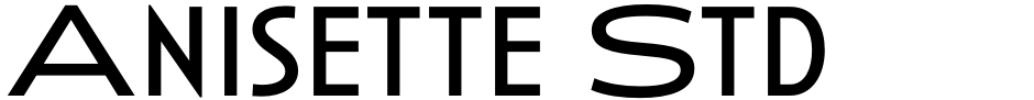 Click to view  Anisette Std font, character set and sample text