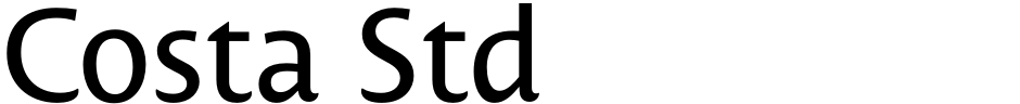 Click to view  Costa Std font, character set and sample text