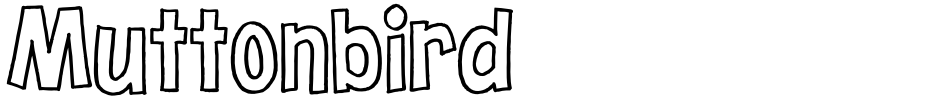 Click to view  Muttonbird font, character set and sample text