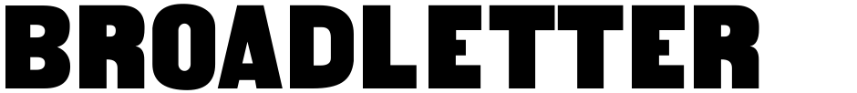 Click to view  Broadletter JNL font, character set and sample text