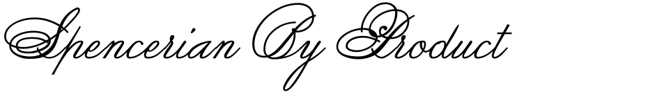 Click to view  Spencerian By Product font, character set and sample text