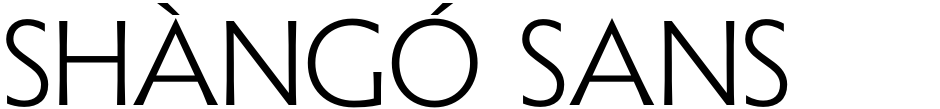 Click to view  Shàngó Sans font, character set and sample text
