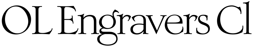 Click to view  OL Engravers Classic font, character set and sample text