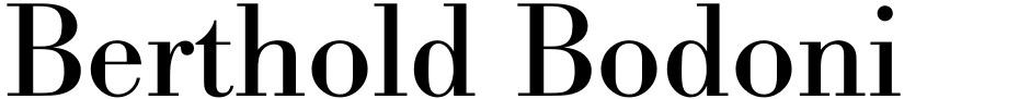 Click to view  Berthold Bodoni Pro font, character set and sample text