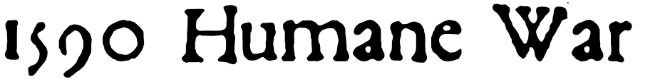 Click to view  1590 Humane Warszawa font, character set and sample text