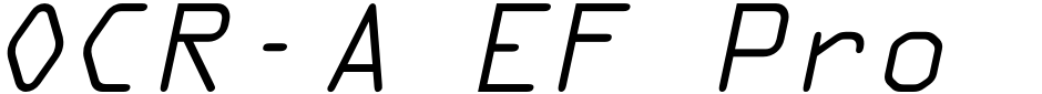 Click to view  OCR-A EF Pro font, character set and sample text