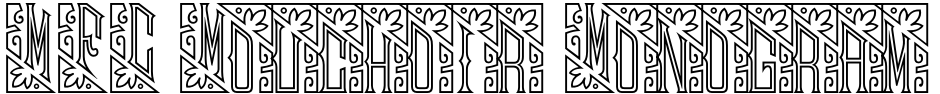 Click to view  MFC Mouchoir Monogram font, character set and sample text