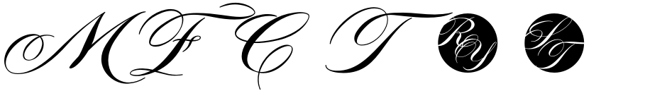 Click to view  MFC Tryst Monogram font, character set and sample text