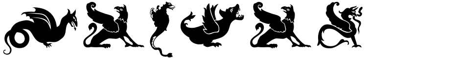 Click to view  Medieval Dragons font, character set and sample text