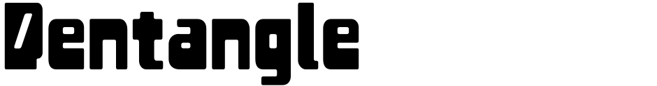 Click to view  Pentangle font, character set and sample text