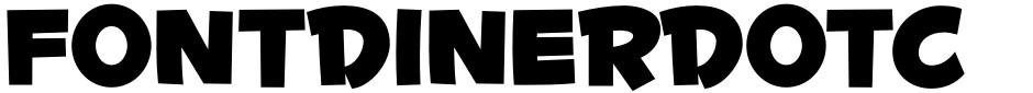Click to view  Fontdinerdotcom Huggable font, character set and sample text