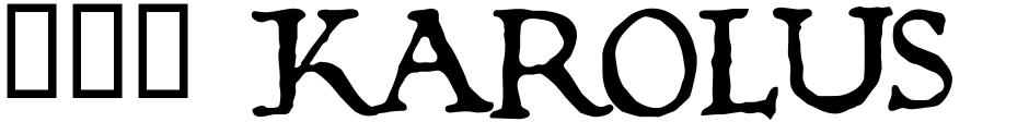 Click to view  825 Karolus font, character set and sample text