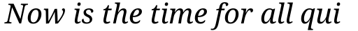 Droid Serif Pro Italic sample