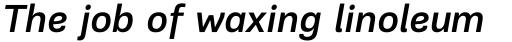 PF Encore Sans Pro Medium Italic sample