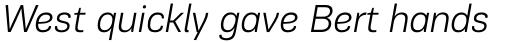 PF Encore Sans Pro Light Italic sample