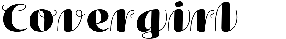 Click to view  Covergirl font, character set and sample text