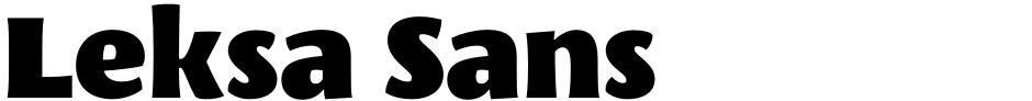 Click to view  Leksa Sans font, character set and sample text