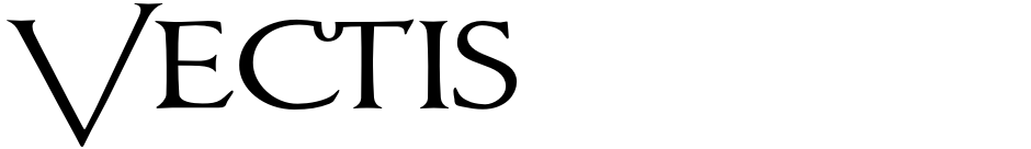 Click to view  Vectis font, character set and sample text