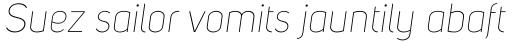 Uni Sans Thin Italic sample