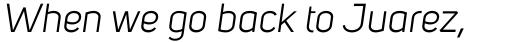 Uni Sans Book Italic sample