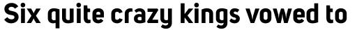 Uni Sans Bold sample