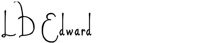 Click to view  LD Edward font, character set and sample text