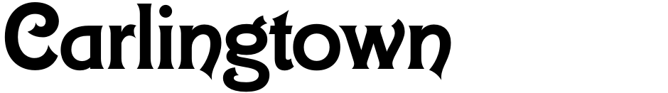 Click to view  Carlingtown font, character set and sample text