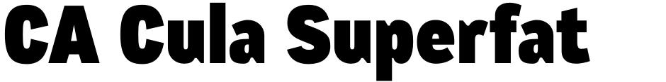 Click to view  CA Cula Superfat font, character set and sample text