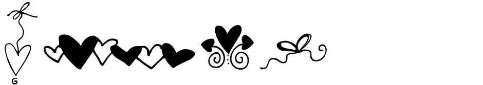 Click to view  Hearts And Swirls Too font, character set and sample text