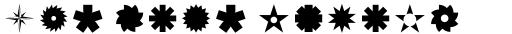 FF Dingbats 2.0 Stars and Flowers sample