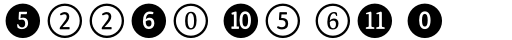 FF Dingbats 2.0 Numbers sample