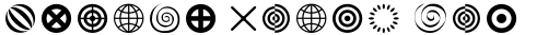 FF Dingbats 2.0 Circles and Crosses sample