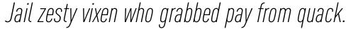 FF DIN Pro Cond Light Italic sample